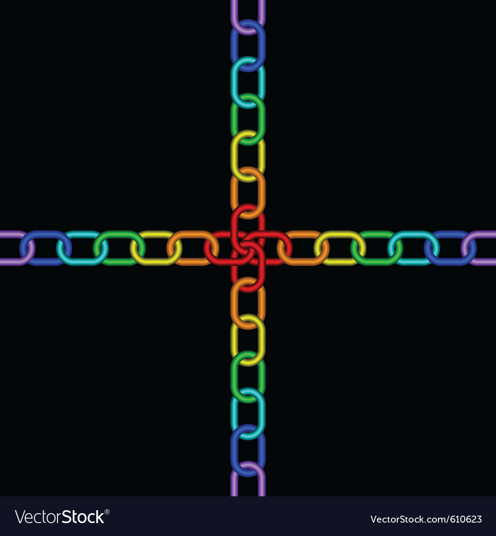 Chain rainbow vector | Price: 1 Credit (USD $1)