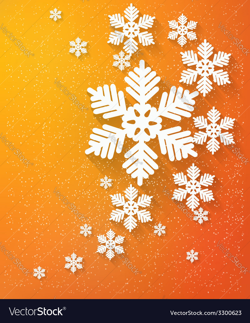 Christmas postcard with snowflakes vector | Price: 1 Credit (USD $1)