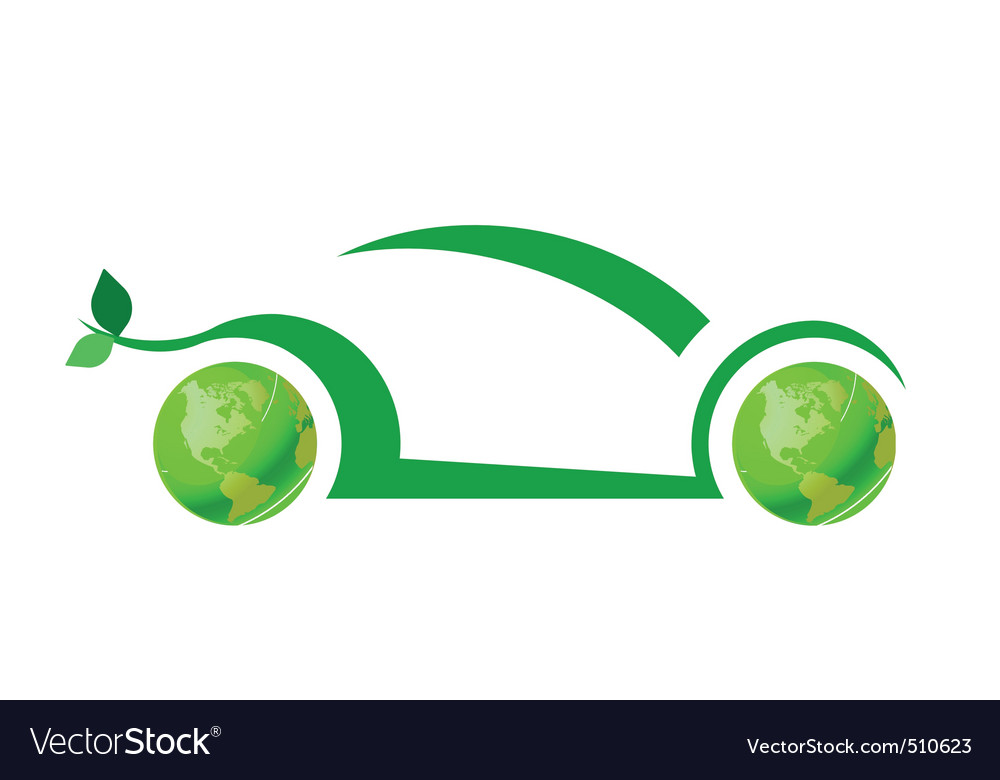 Ecology car vector | Price: 1 Credit (USD $1)