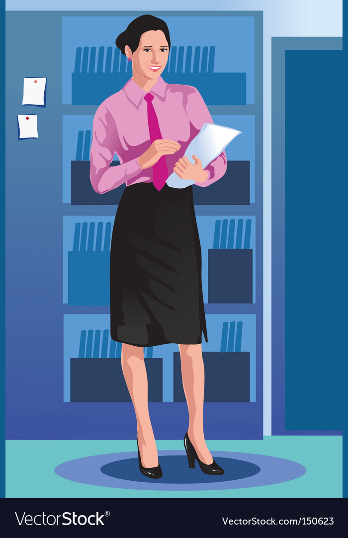 Girl business vector | Price: 1 Credit (USD $1)
