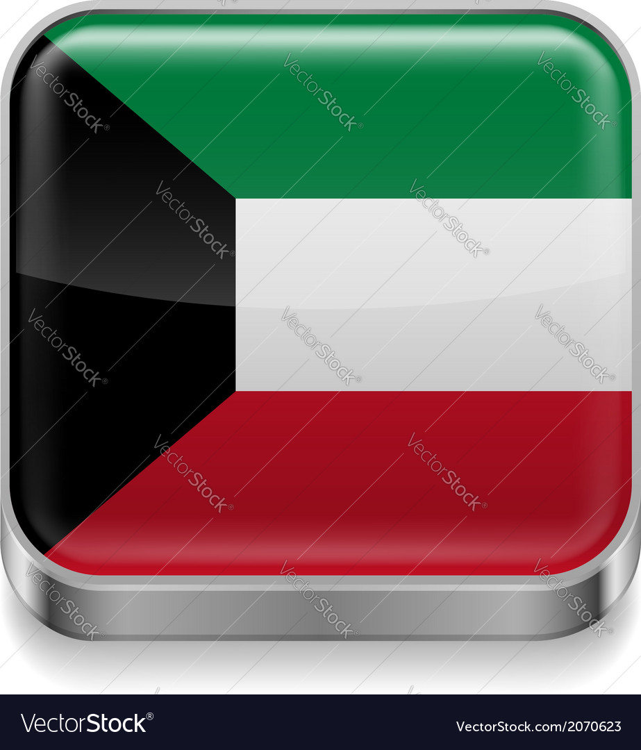 Metal icon of kuwait vector | Price: 1 Credit (USD $1)