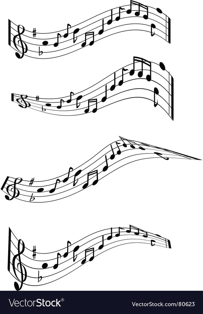 Music note swirls vector | Price: 1 Credit (USD $1)