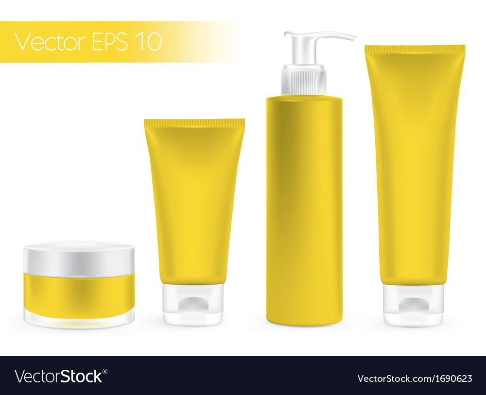 Packaging containers yellow color vector | Price: 1 Credit (USD $1)
