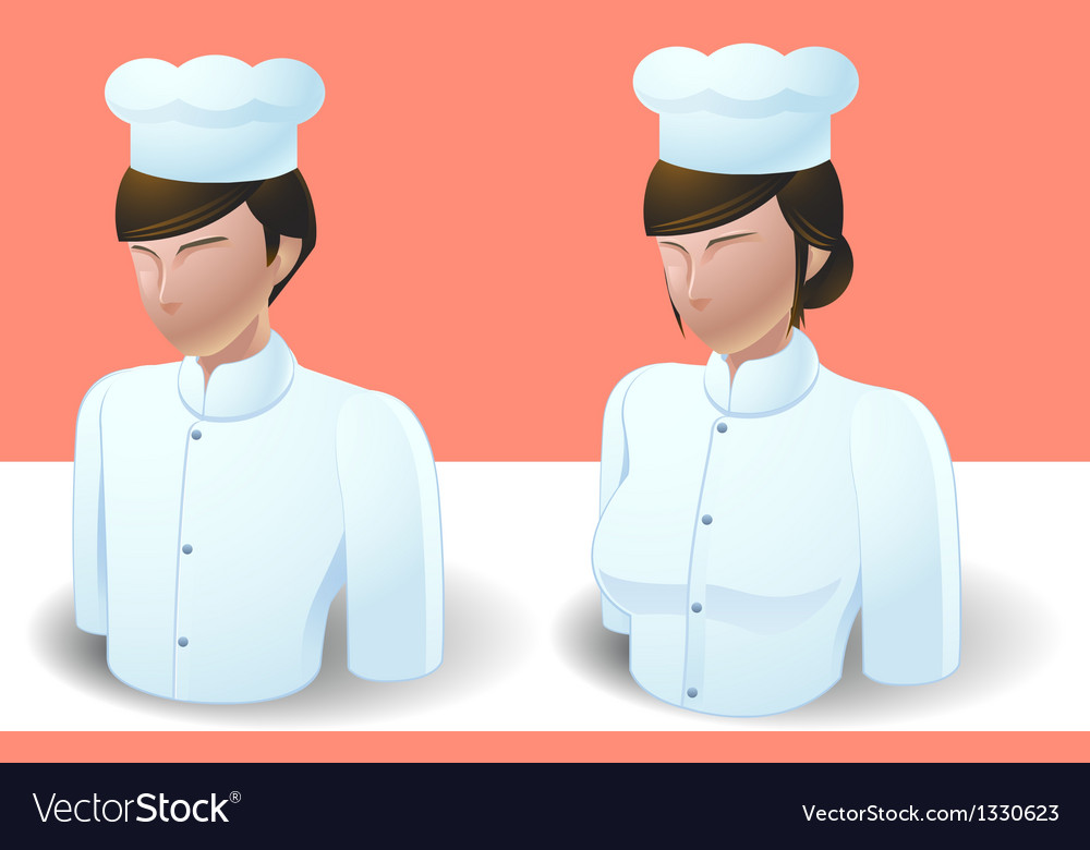 People icons chef man and women vector | Price: 3 Credit (USD $3)