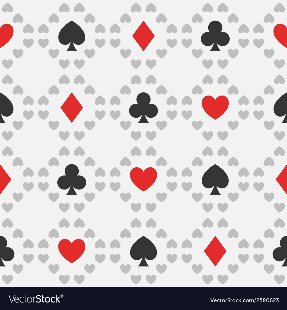 Seamless pattern of card suits vector | Price: 1 Credit (USD $1)