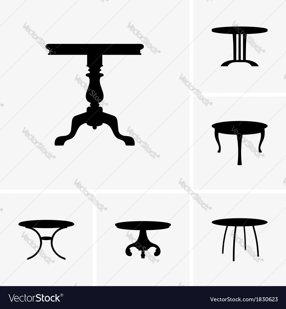 Small tables vector | Price: 1 Credit (USD $1)