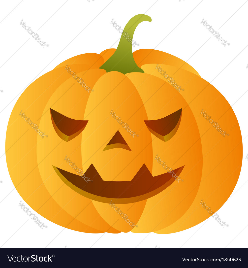 Smiling carved pumpkin vector | Price: 1 Credit (USD $1)