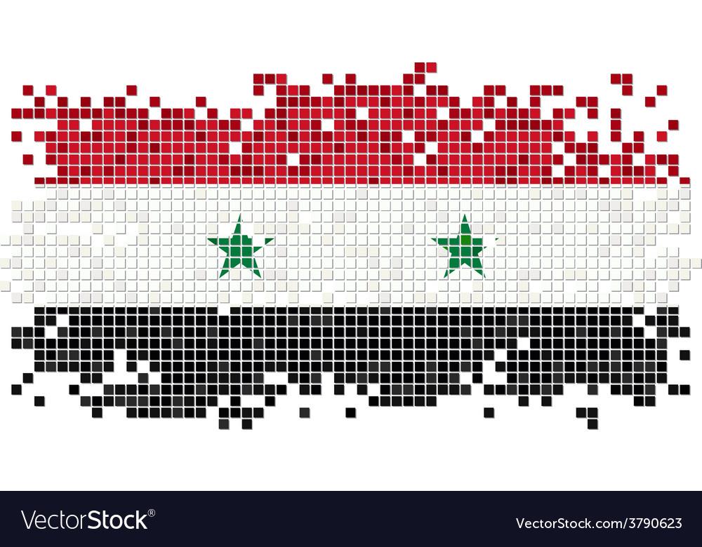 Syrian grunge tile flag vector | Price: 1 Credit (USD $1)
