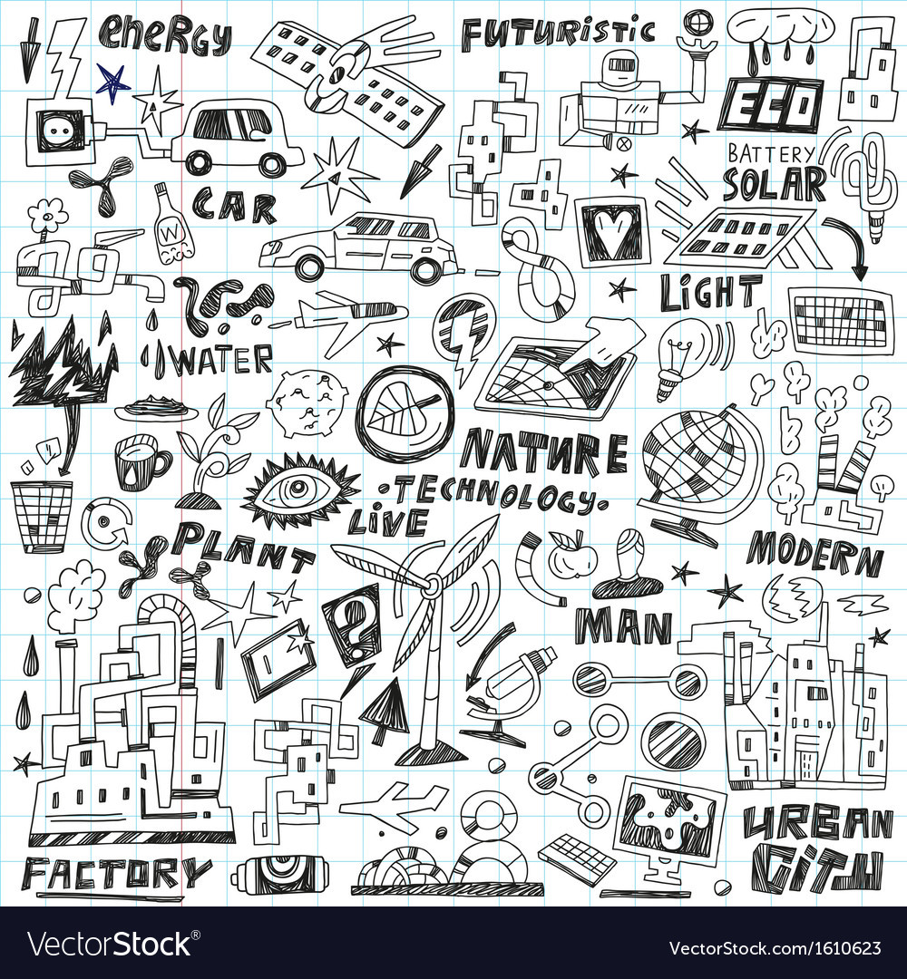 Technology - doodles set vector | Price: 1 Credit (USD $1)