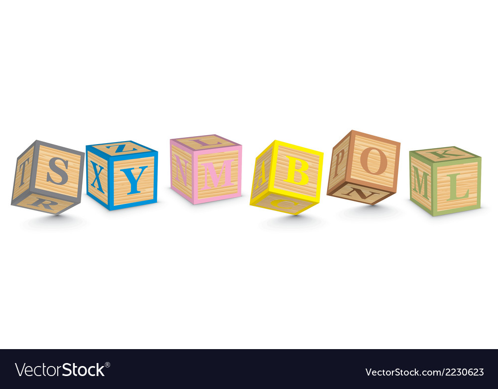 Word symbol written with alphabet blocks vector | Price: 1 Credit (USD $1)
