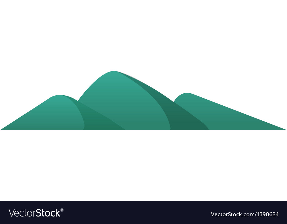 A view of a mountain vector | Price: 1 Credit (USD $1)