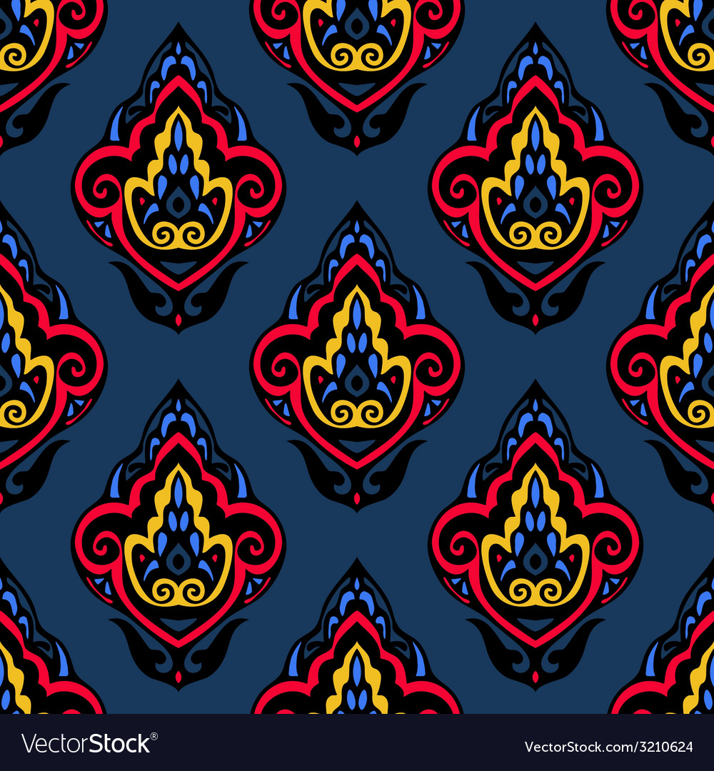 Abstract damask floral seamless pattern vector | Price: 1 Credit (USD $1)