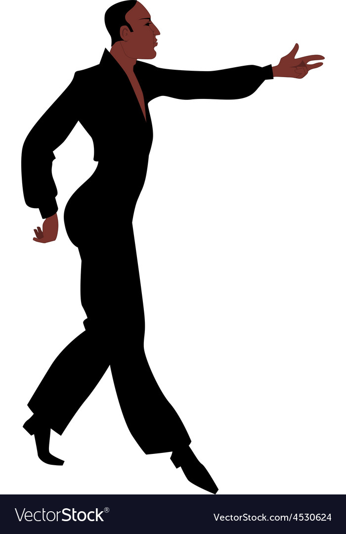Ballroom latin samba dancer vector | Price: 1 Credit (USD $1)