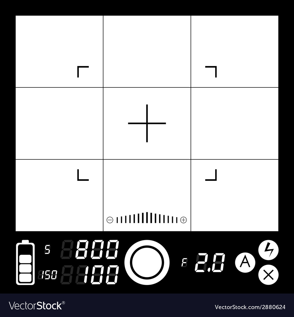Camera viewfinder vector | Price: 1 Credit (USD $1)