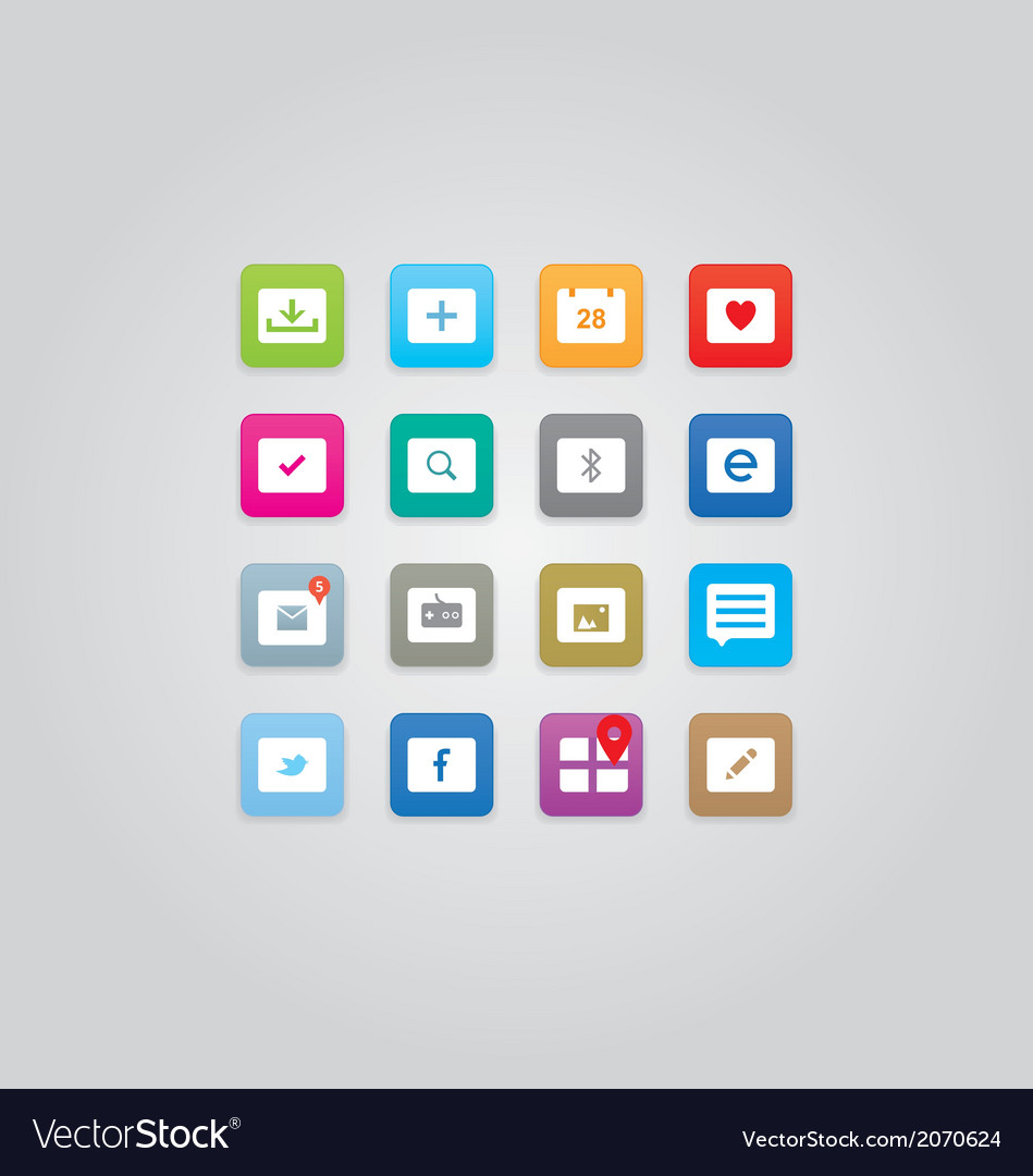 Clean and simple icons vector | Price: 1 Credit (USD $1)