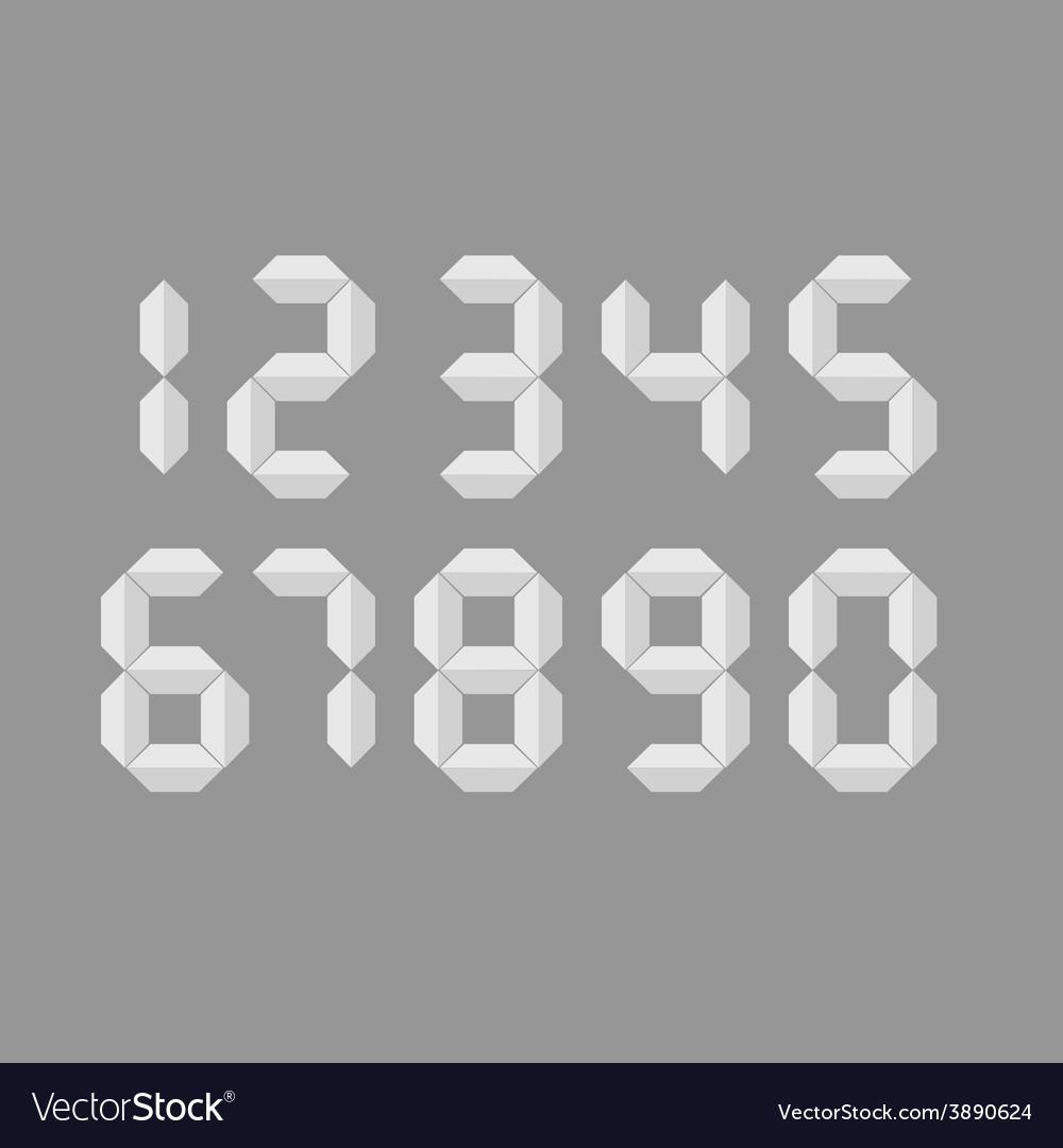 Digital number vector   Price: 1 Credit (USD $1)