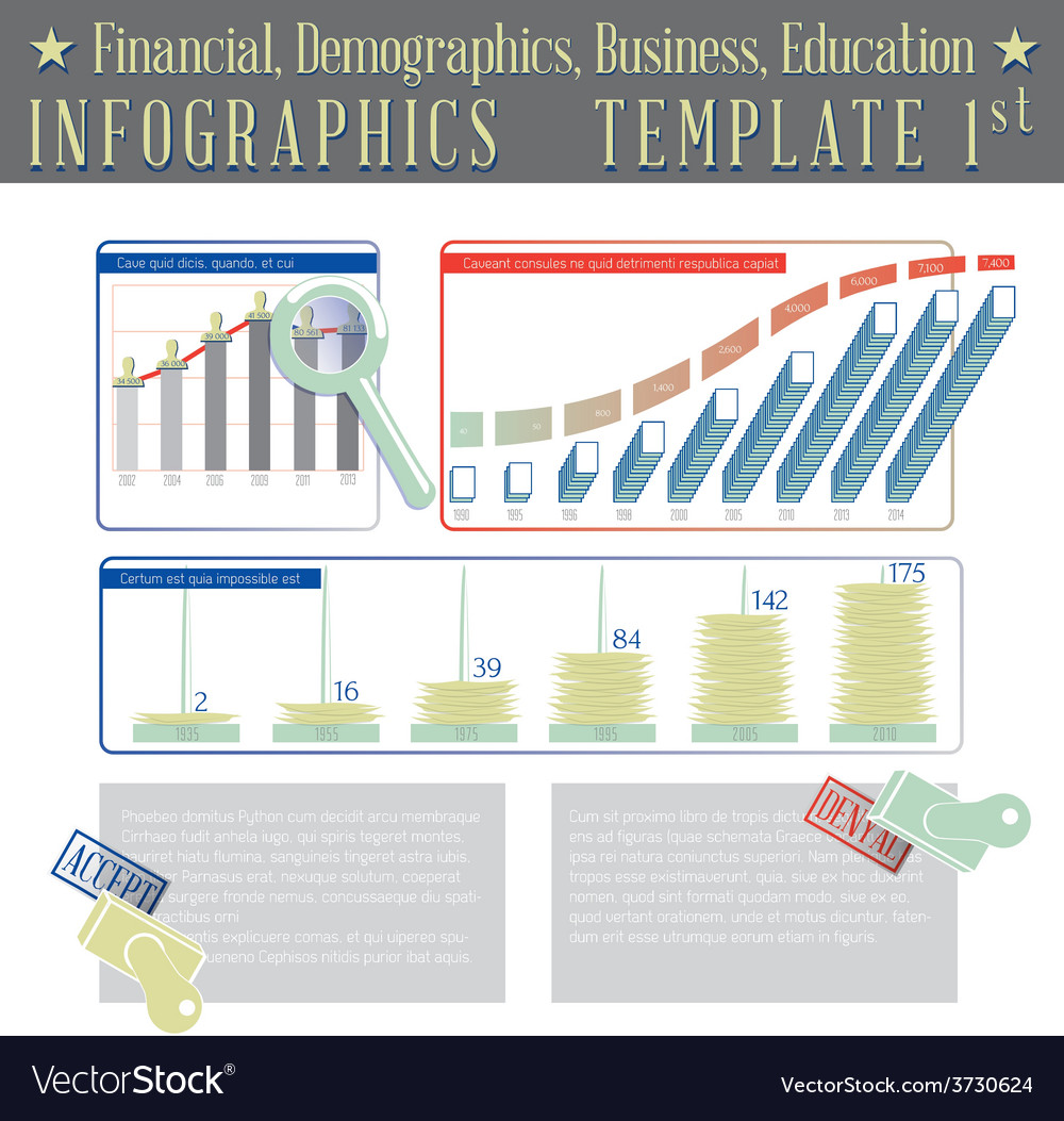 Financial demographics business education vector | Price: 1 Credit (USD $1)