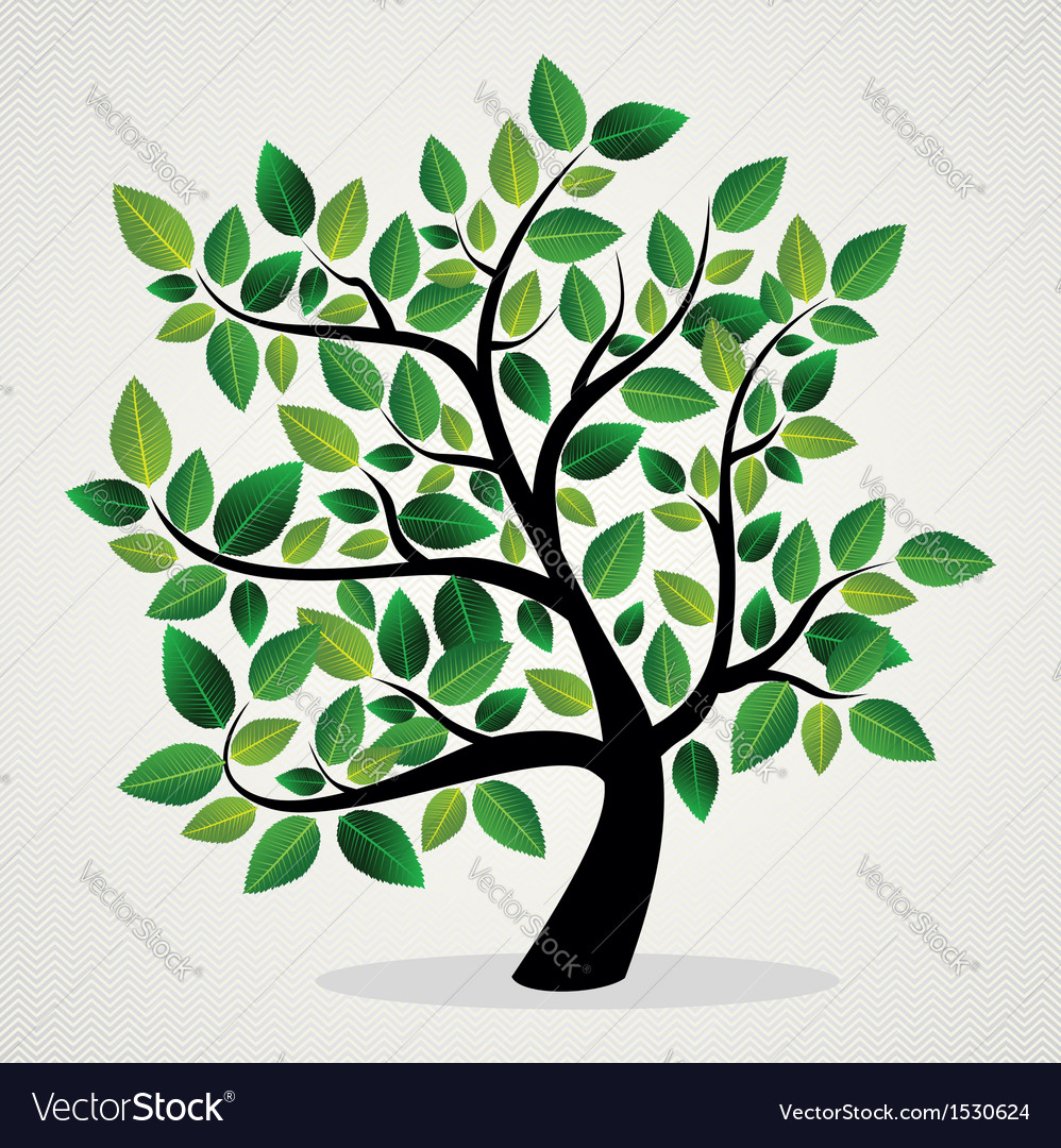 Green leaves tree vector | Price: 1 Credit (USD $1)