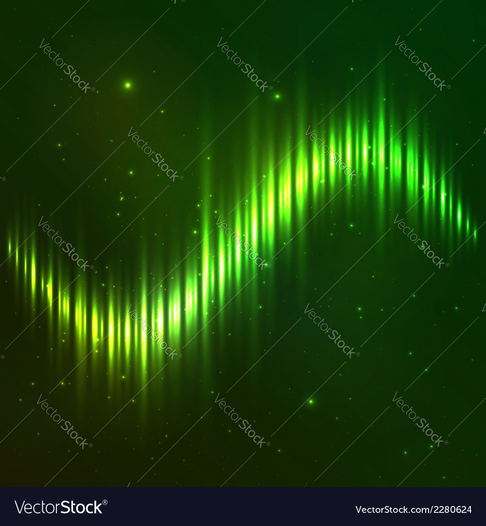 Green shining wave equalizer vector | Price: 1 Credit (USD $1)