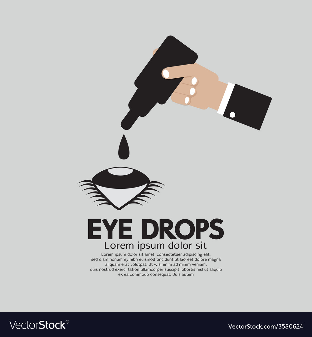 Hand applying eye drops vector | Price: 1 Credit (USD $1)