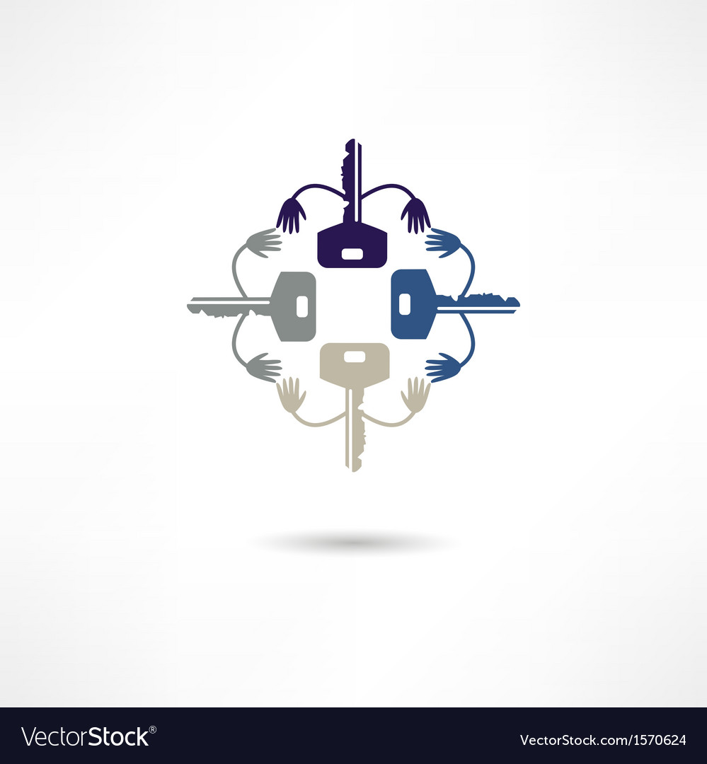 Key icon vector | Price: 1 Credit (USD $1)