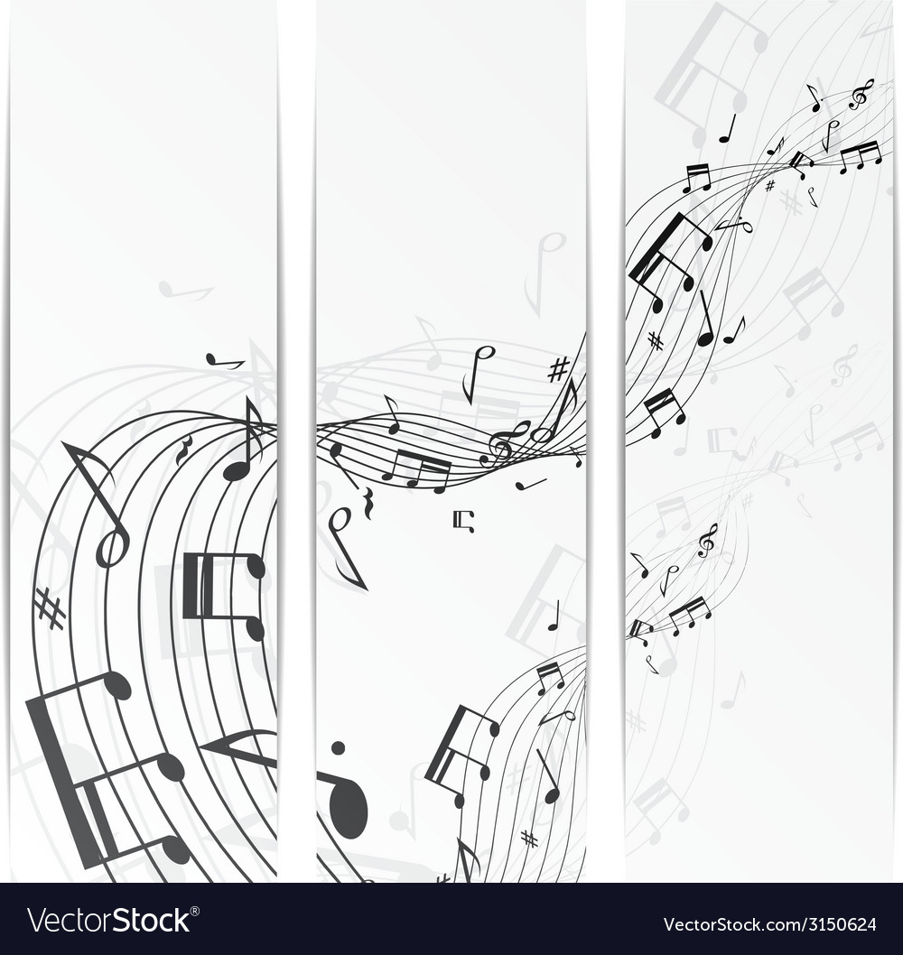 Music notes banner vector | Price: 1 Credit (USD $1)