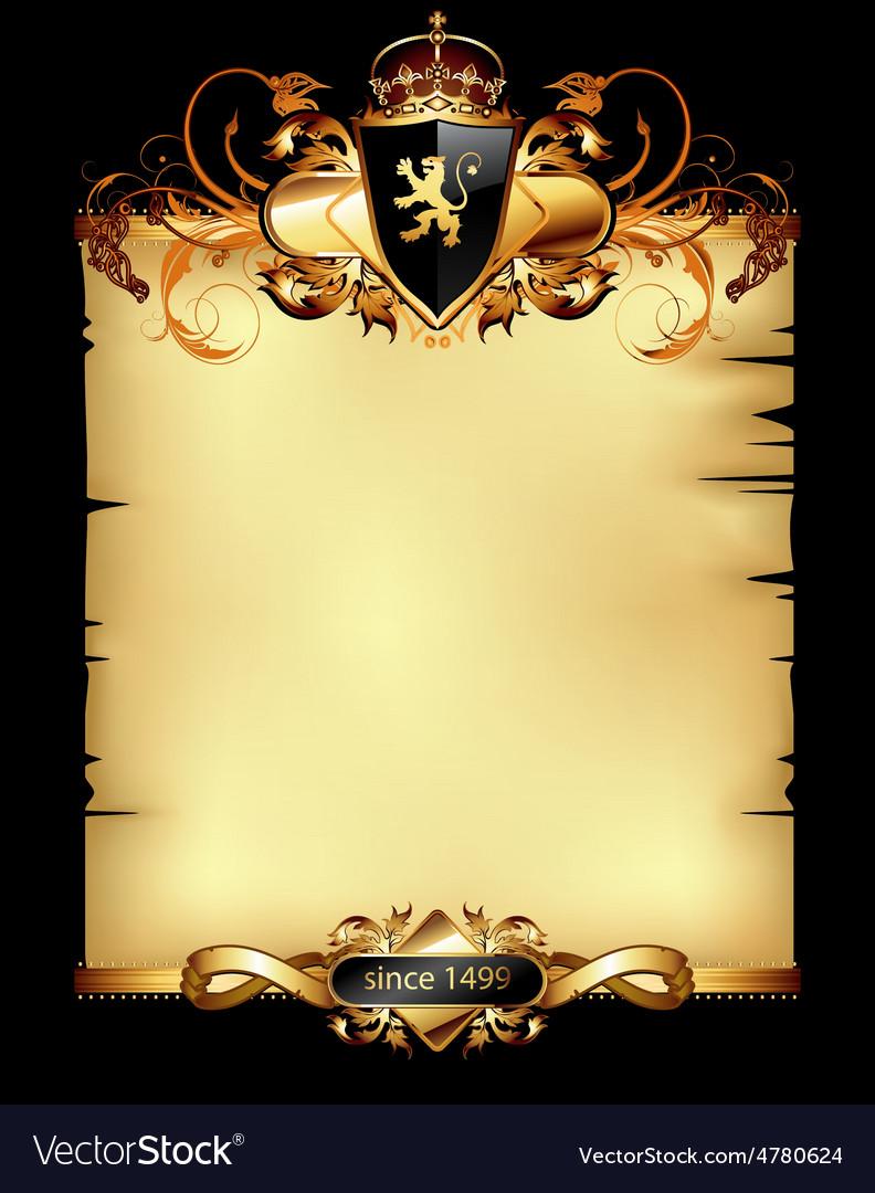 Ornate heraldic frame vector | Price: 3 Credit (USD $3)