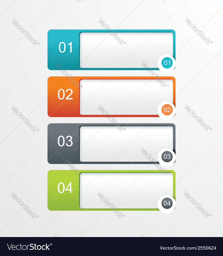 Paper tags labels banners in the pockets - one two vector | Price: 1 Credit (USD $1)
