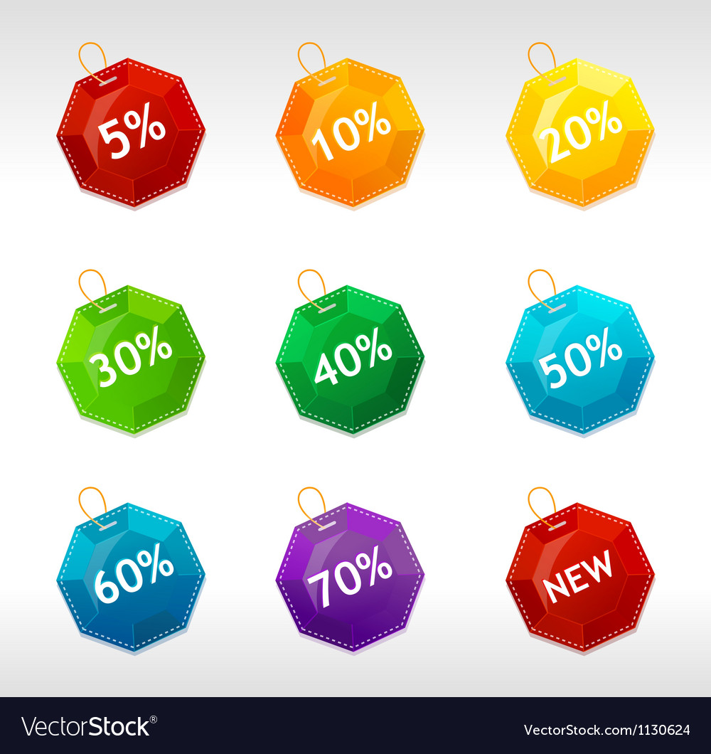 Sale labels crystal vector | Price: 1 Credit (USD $1)