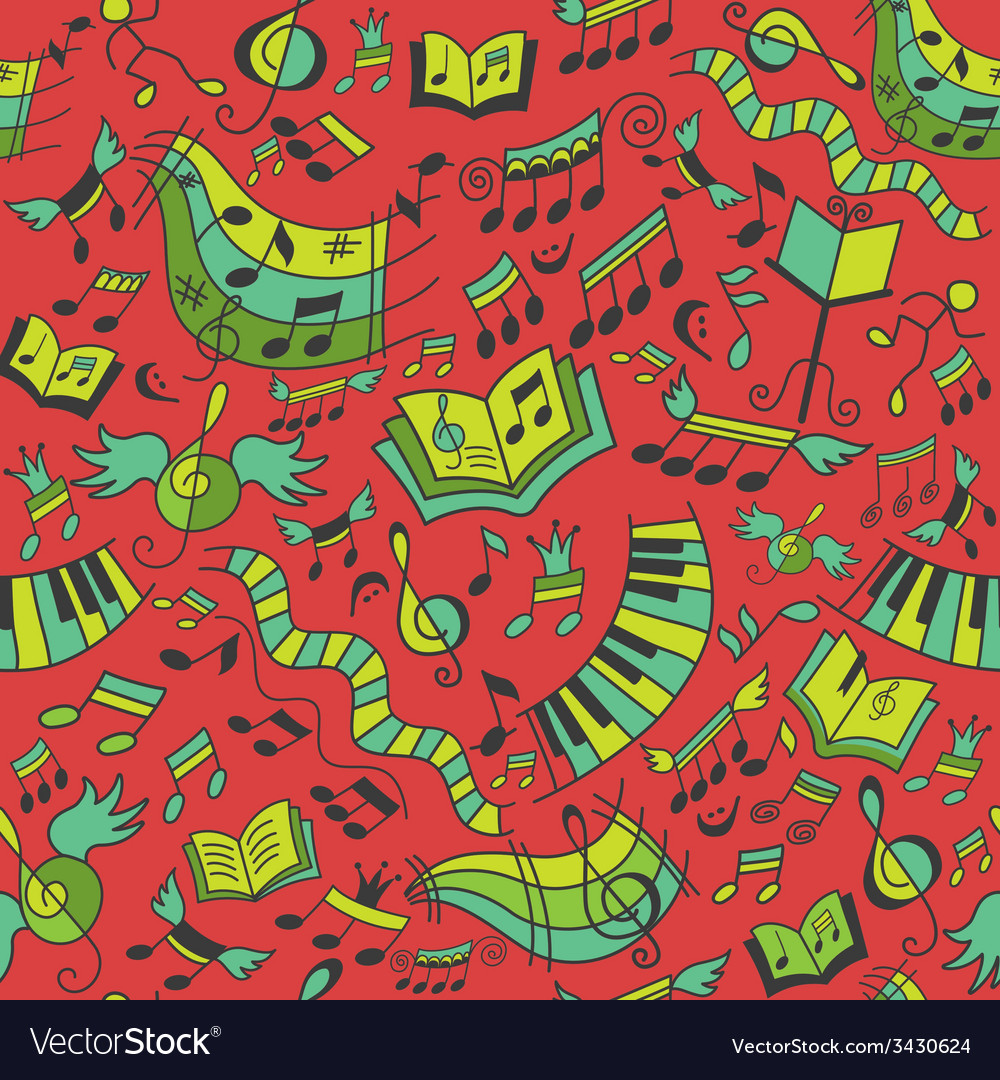 Seamless musical pattern vector | Price: 1 Credit (USD $1)
