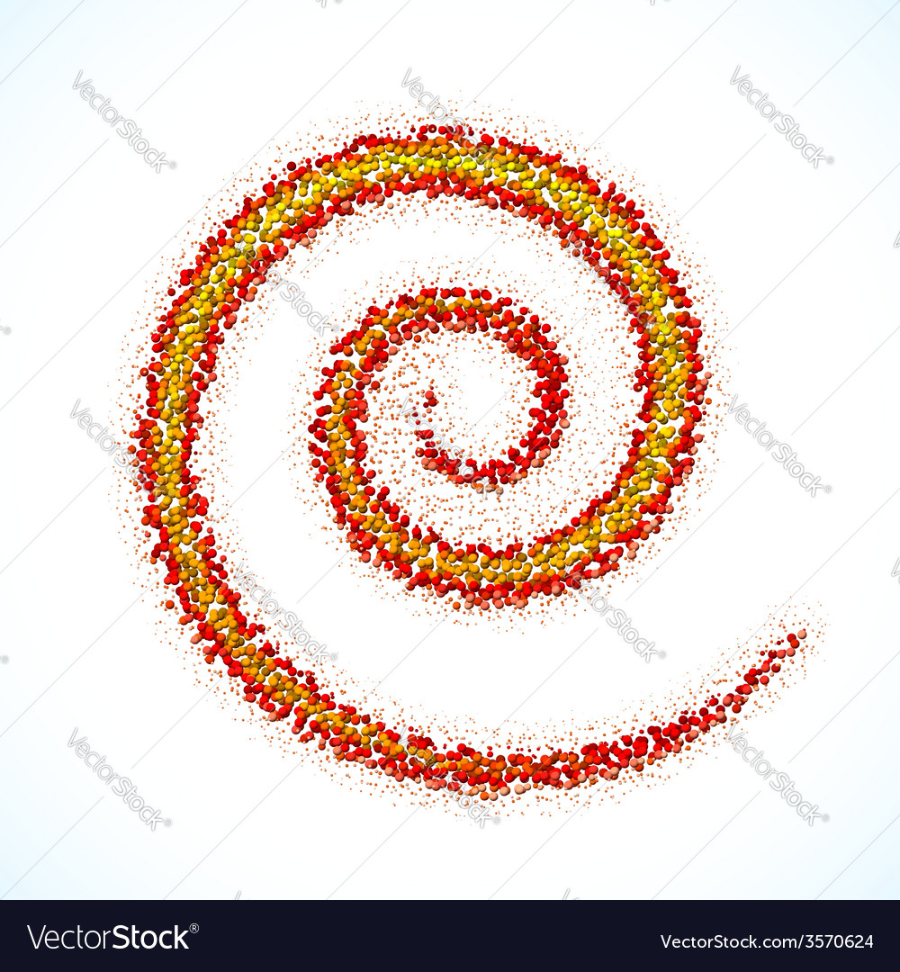 Spiral sign made of scattered balls vector | Price: 1 Credit (USD $1)
