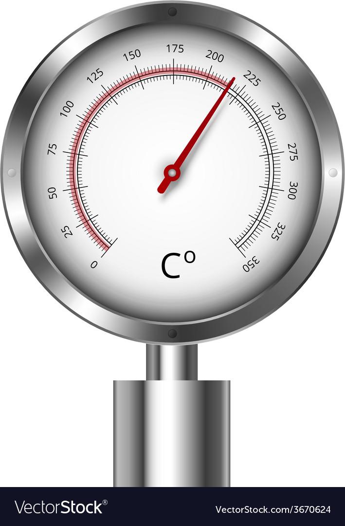 Temperature meter gauge vector   Price: 1 Credit (USD $1)