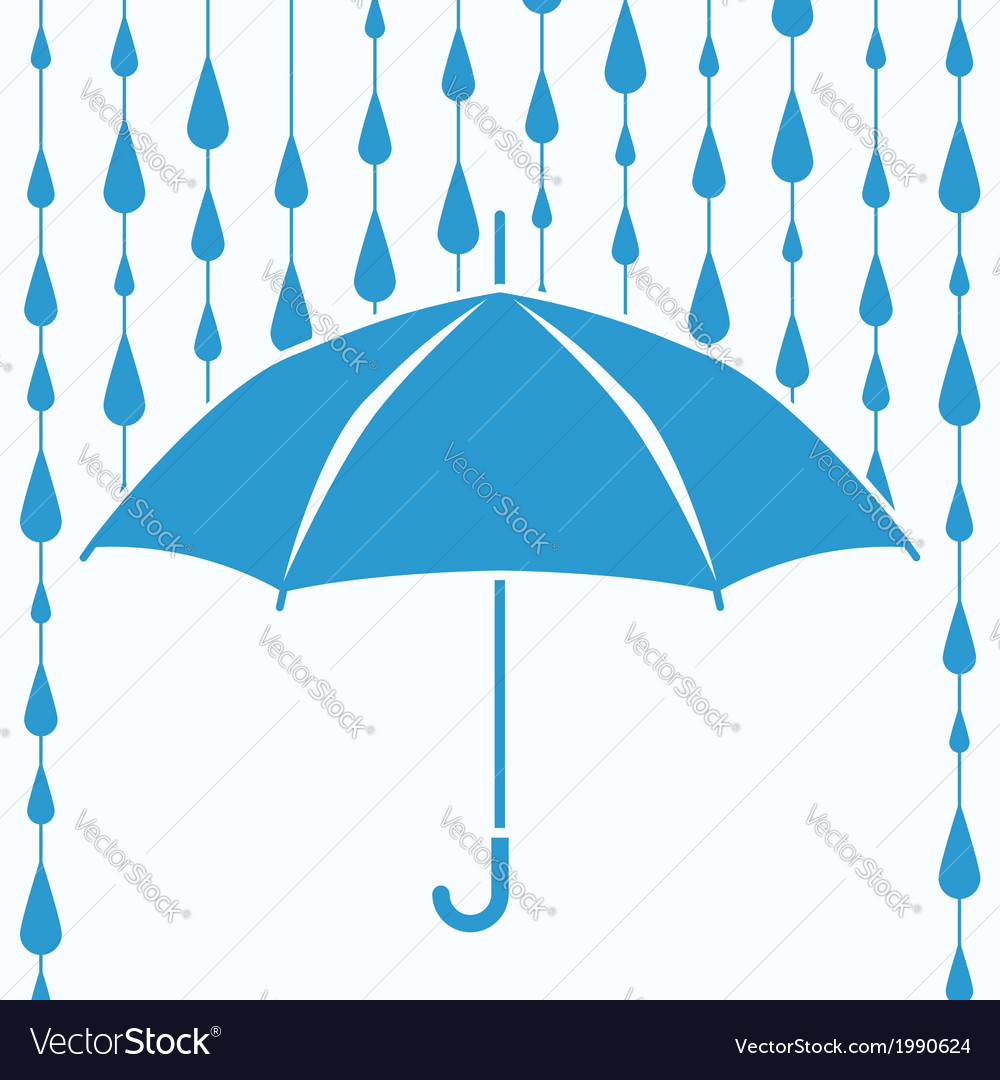 Umbrella protection from rain vector | Price: 1 Credit (USD $1)