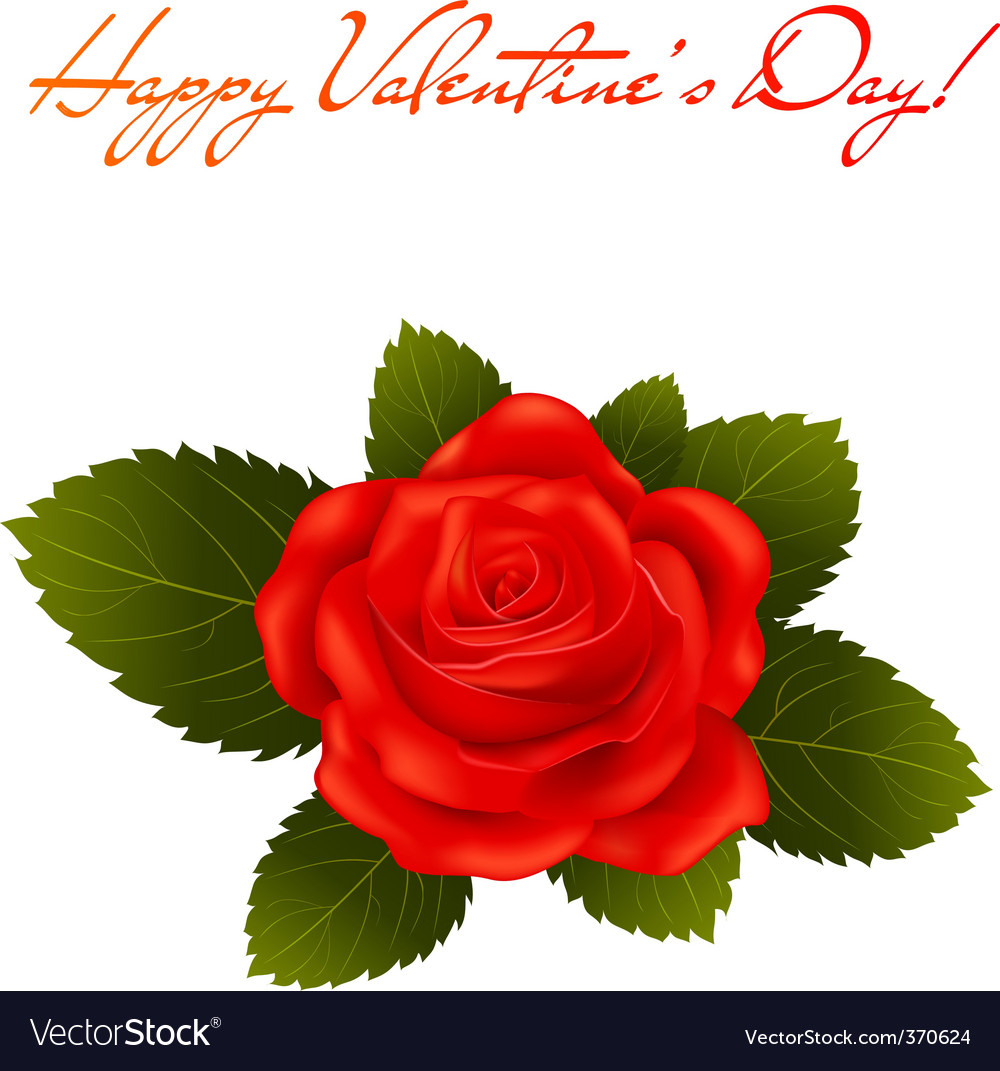 Valentine's day greeting card vector | Price: 1 Credit (USD $1)