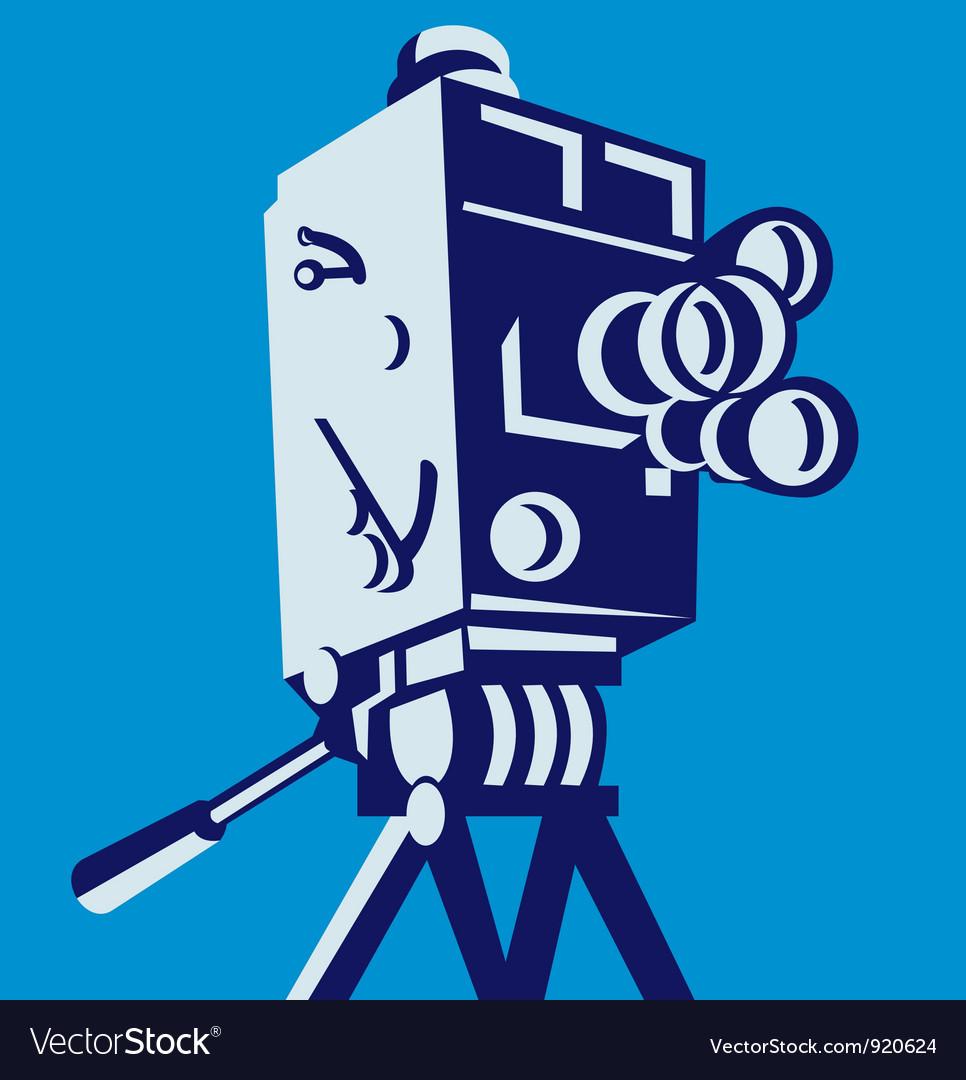 Vintage film movie camera retro vector | Price: 3 Credit (USD $3)