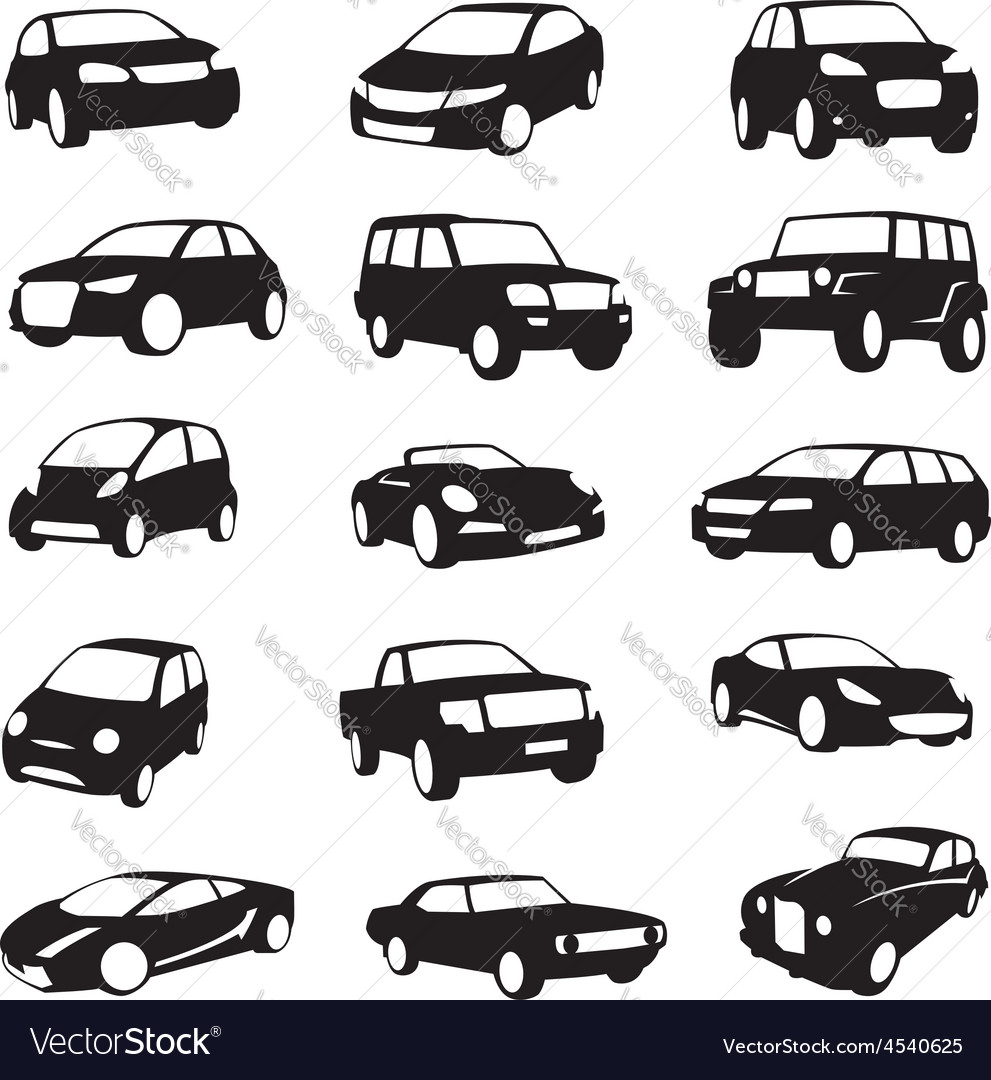 Cars silhouettes vector   Price: 1 Credit (USD $1)