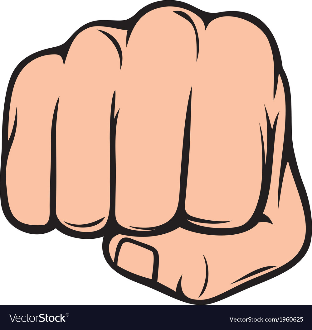 Fist punching human hand punching vector | Price: 1 Credit (USD $1)