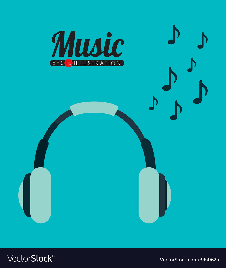 Music headphones vector | Price: 1 Credit (USD $1)