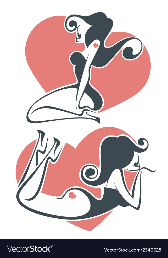 Pinup girls vector | Price: 1 Credit (USD $1)