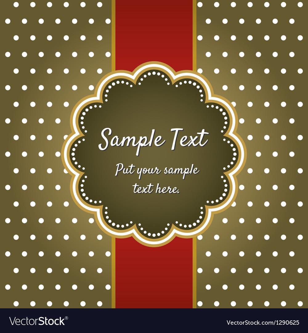 Retro greeting card template design vector | Price: 1 Credit (USD $1)