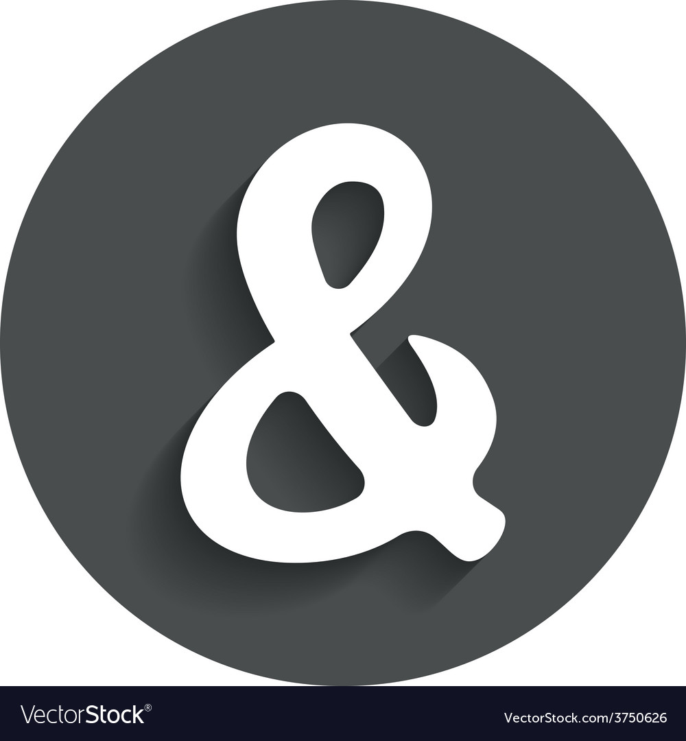 Ampersand sign icon logical operator and vector | Price: 1 Credit (USD $1)