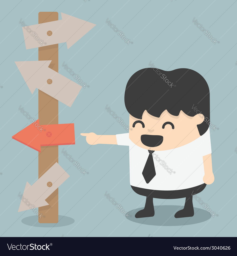 Businessman see exit fortuitous vector | Price: 1 Credit (USD $1)