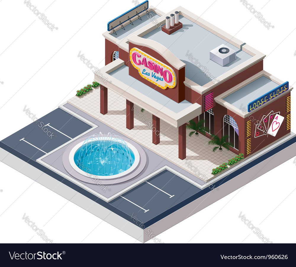 Isometric casino building vector | Price: 3 Credit (USD $3)