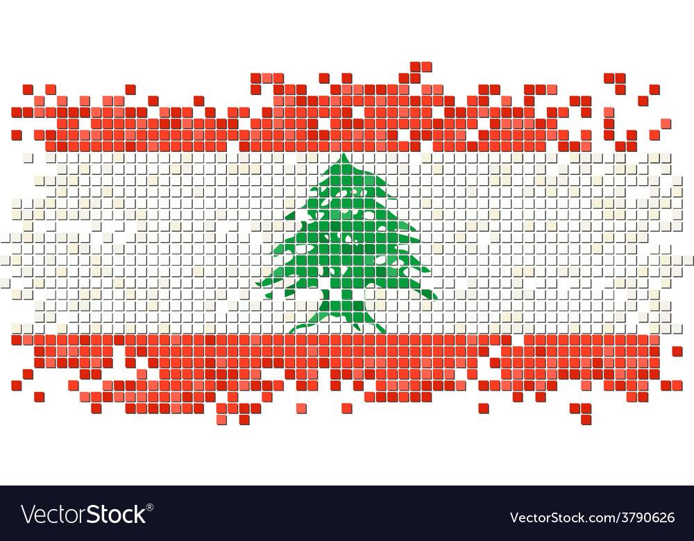 Lebanese grunge tile flag vector   Price: 1 Credit (USD $1)