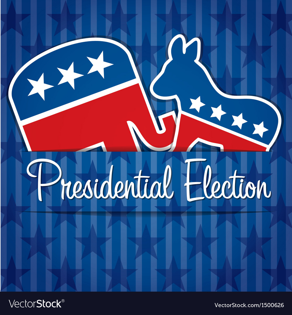 Presidential election vector | Price: 1 Credit (USD $1)