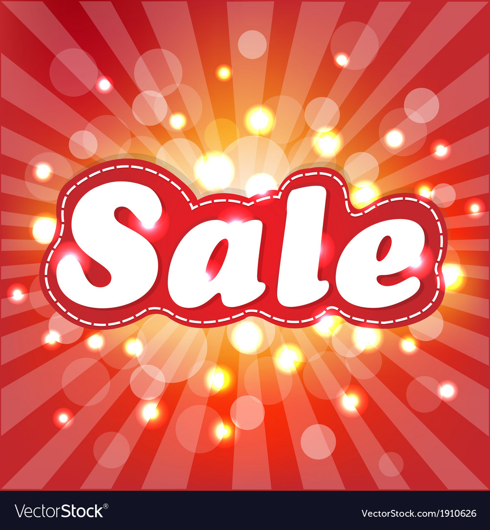 Red sale poster with sunburst vector | Price: 1 Credit (USD $1)
