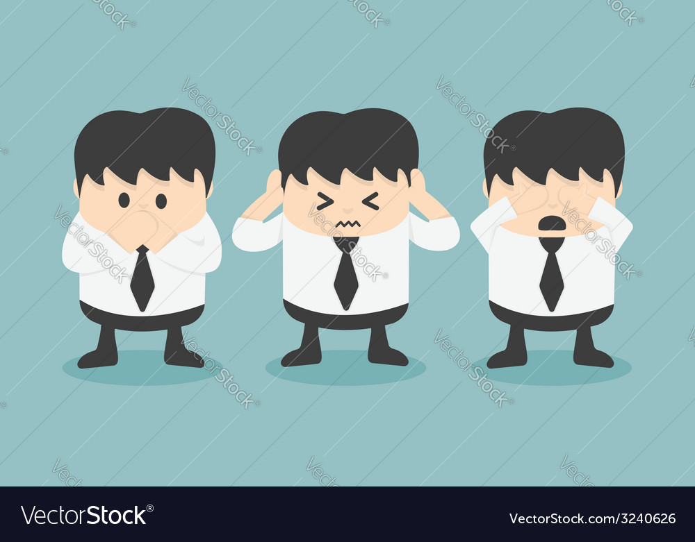 See no evil hear no evil speak no evil vector | Price: 1 Credit (USD $1)