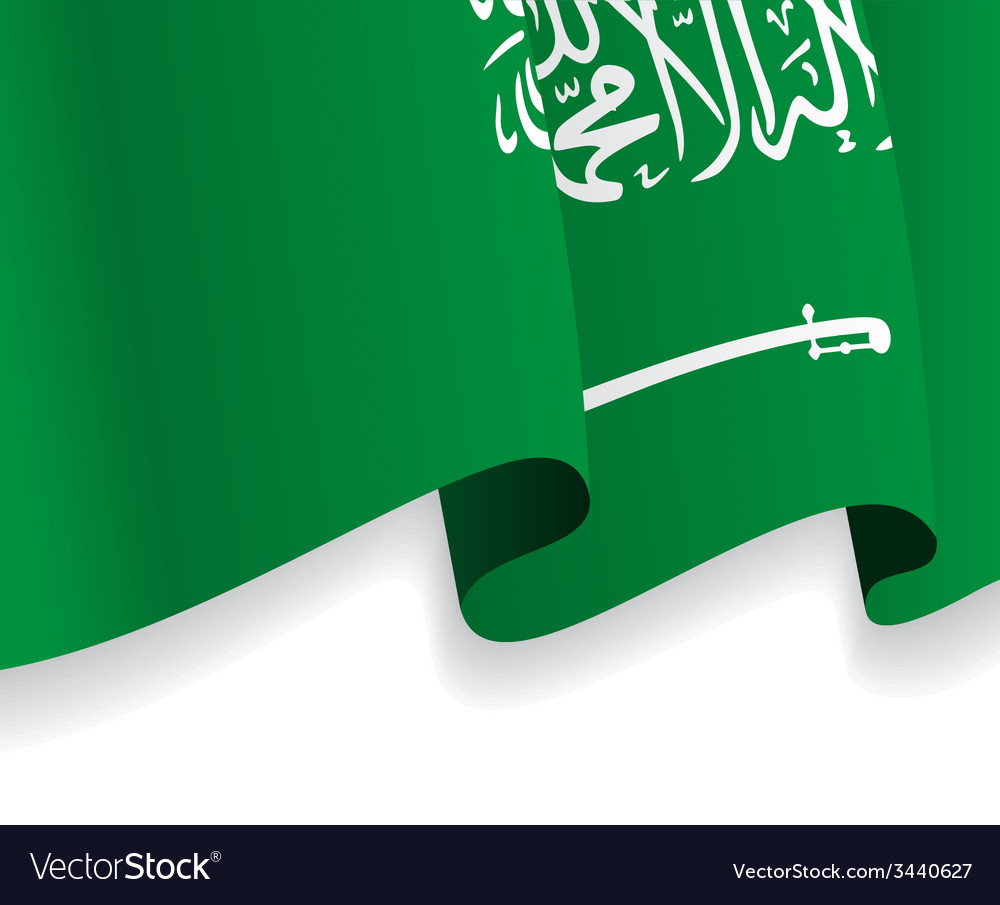 Background with waving saudi arabia flag vector | Price: 1 Credit (USD $1)