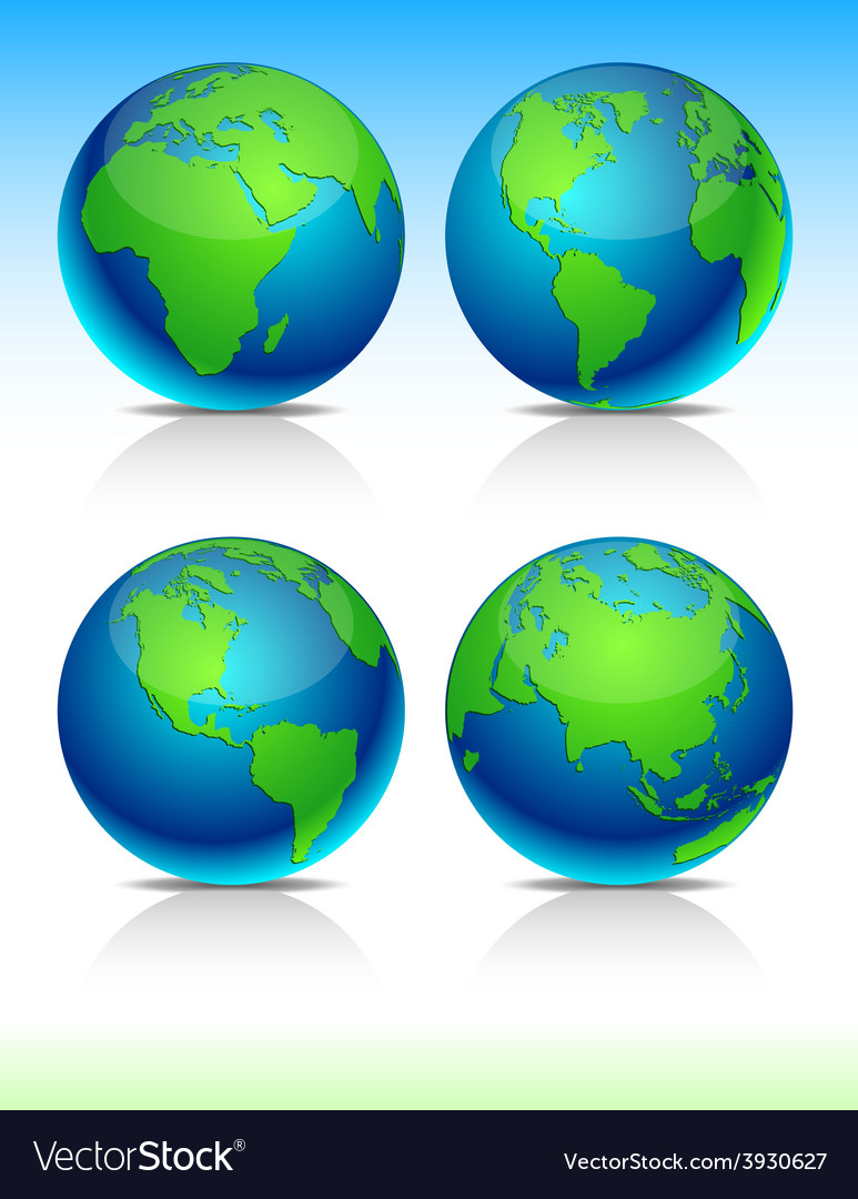 Blue earth balls vector | Price: 1 Credit (USD $1)