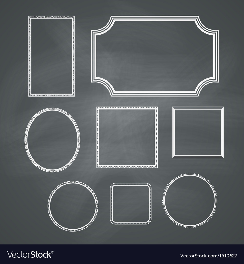 Chalkboard frames vector | Price: 1 Credit (USD $1)